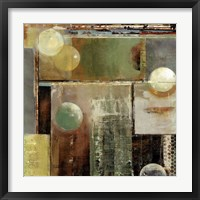 Ice & bubbles II Framed Print