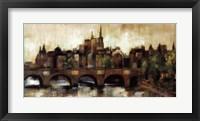Paris Bridge II Spice Framed Print