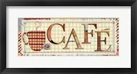Framed Patchwork Cafe I