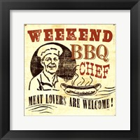 Framed Weekend BBQ chef