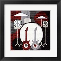 Rock n' Roll Drums Framed Print