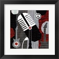 Rock n' Roll Mic Framed Print