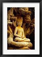 Framed Close-up of a statue of Buddha, Muang Boran, Samut Prakan, Thailand