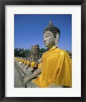 Framed Buddha statue at a temple, Wat Yai Chai Mongkol, Ayutthaya, Thailand