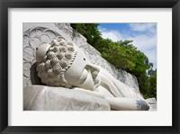 Statue of reclining Buddha, Long Son Pagoda, Nha Trang, Vietnam Framed Print