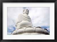 Statue of Buddha, Long Son Pagoda, Nha Trang, Vietnam Framed Print