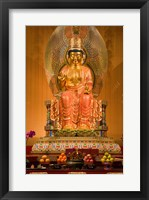 Framed Statue of Buddha in a Temple