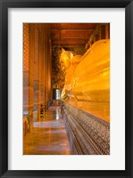 Framed Statue of reclining Buddha in a Temple