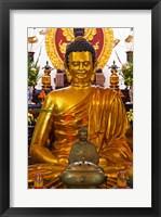 Statue of Buddha in a Temple, Long Son Pagoda, Nha Trang, Vietnam Framed Print