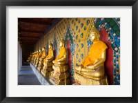 Framed Statues of Buddha in a row, Wat Arun, Bangkok, Thailand