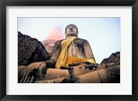Framed Statue of Buddha, Wat Yai Chai Mongkhon, Ayutthaya, Thailand