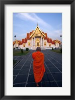 Framed Buddhist Monk at a Temple