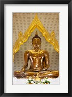 Framed Golden Buddha Statue in a Temple, Wat Traimit, Bangkok, Thailand