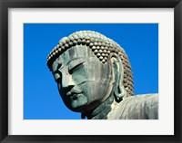 Close-up of a statue, Daibutsu Great Buddha, Kamakura, Japan Framed Print