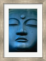 Framed Close-up of the face of a Buddha Statue, Tokyo, Honshu, Japan