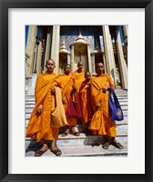 Framed Group of monks, Wat Phra Kaeo Temple of the Emerald Buddha, Bangkok, Thailand