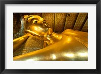 Framed Close-up of the Reclining Buddha, Wat Po, Bangkok, Thailand