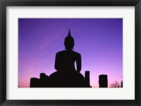Framed Silhouette of the Seated Buddha, Wat Mahathat, Sukhothai, Thailand