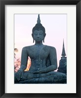 Framed Front view of the Seated Buddha, Wat Mahathat, Sukhothai, Thailand