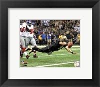 Framed Drew Brees 2011 Action