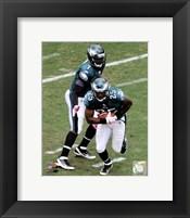 Framed LeSean McCoy & Michael Vick 2011 Action