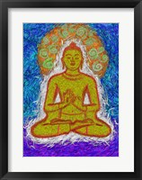 Framed Zen Gogh Buddha