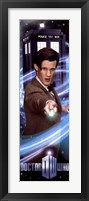 Framed Doctor Who Doctor & His Screwdriver