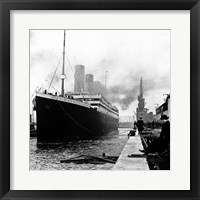 Framed Titanic at the docks of Southampton