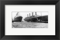 Framed Olympic and Titanic