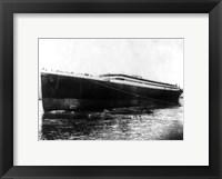 Framed Titanic photograph