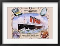 Framed R.M.S. Titanic