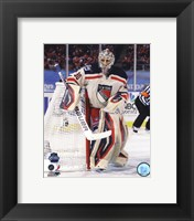 Framed Henrik Lundqvist 2012 NHL Winter Classic Action