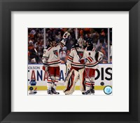 Framed Henrik Lundqvist, Brandon Dubinsky, & Brandon Prust 2012 NHL Winter Classic Action