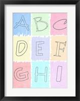 Framed Alphabet I