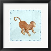 Monkey Alphabet Framed Print