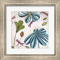 Framed Flowers & Dragonflies