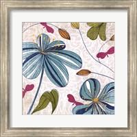 Framed Flowers & Butterflies