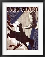 Framed C'mon Cowboy