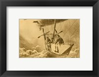 Framed Gondola of the P II Reporting Arrival of a Wright flyer