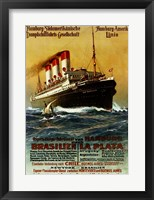 Framed Poster of the Hamburg South American Steamship Company