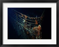 Framed Titanic Wreckage Underwater