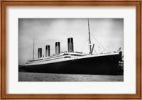 Framed Titanic - B&W photo