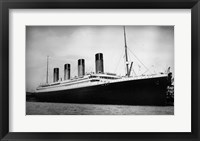 Framed Titanic - B&W photo