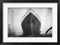 Titanic at the Thompson Graving Dock Framed Print