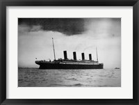 Titanic at Sea Framed Print