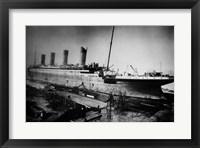 Framed Docked Titanic
