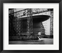 Framed Titanic Constructed at the Harland and Wolff Shipyard in Belfast Photo