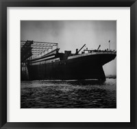 Titanic Constructed at the Harland and Wolff Shipyard in Belfast Framed Print