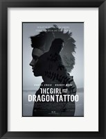 Framed Girl with the Dragon Tattoo movie poster