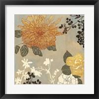 Framed Grace Flowers I